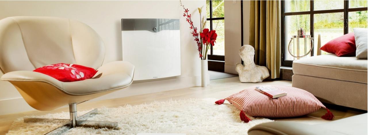 Radiateur chaleur douce facade verre